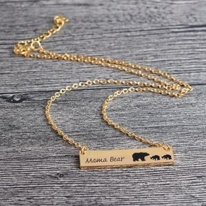 Jewelry - Mama Bear Gold Plated Necklace